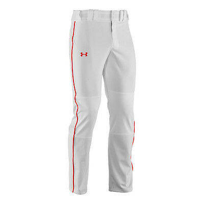 Under Armour Clean Up Relaxed Baseball Pants UA 1258054 White/Red Piping Men's S