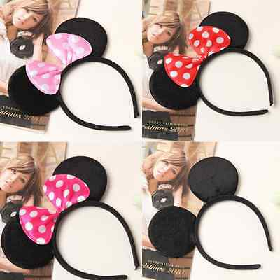 Cute Micky and Minnie Mouse Ears Headband Party Gift