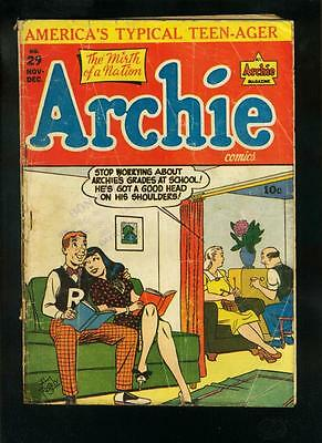 ARCHIE COMICS #29 1947-FAGALY COVER-BETTY & VERONICA-good G