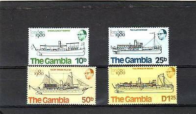 a118 - GAMBIA - SG436-439 MNH 1980 LONDON 1980 STAMP EXHIBITION