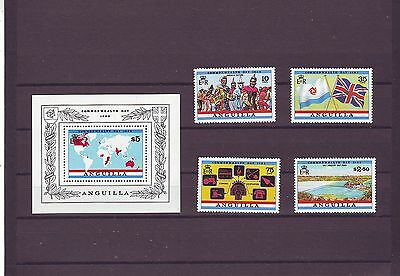 Anguilla - Sg544-Ms548 Mnh 1983 Commonwealth Day