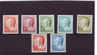 LUXEMBOURG - SELECTION MNH 1965 GRAND DUKE DEFINITIVES TO 20f 7v