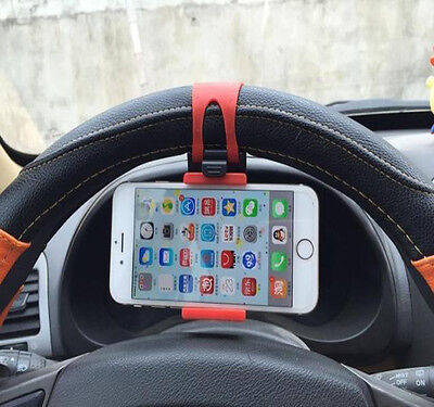 Universal Car Steering Wheel Clip Mount Holder Cradle Stand For iPhone 7Plus GPS