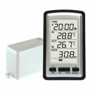Professional Wireless Weather Station With Rain Guage Digital Lcd Screen Au Ship
