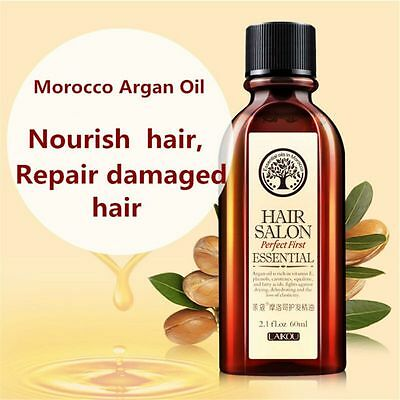 Argan Oil Hair Care Nourish Scalp Treatment Smooth Damaged Dry Repair 60ml
