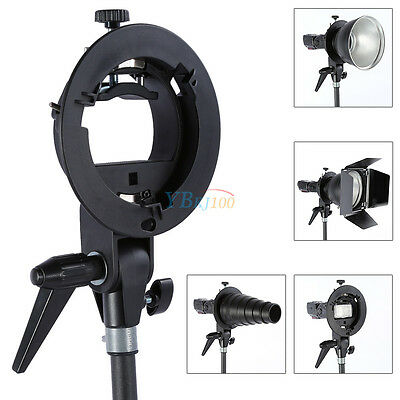 Universal S-Type Bracket Umbrella Mount Holder With Chuck for Flash Softbox