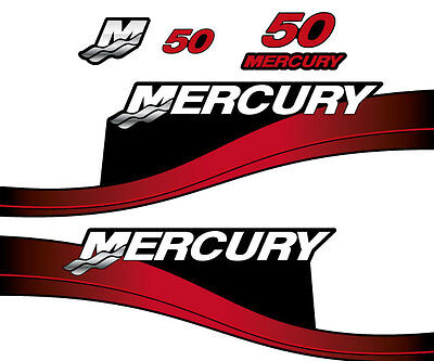 Mercury 50 outboard (1999-2004) decal aufkleber sticker set