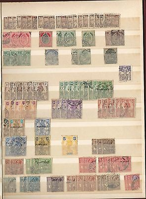 Malta:Stock book with thousand used stamps, good range earlies, mint/used. MT13+