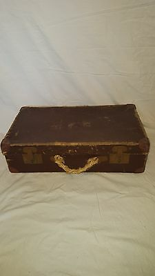 Vintage Trunk Suitcase Retro Luggage Display Kitsch Farmhouse
