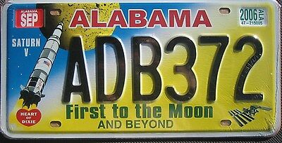 """Replica Alabama """"first To The Moon"""" License Plate"""