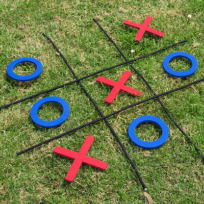 Classic Giant Garden Naughts and crosses foam pieces and rope