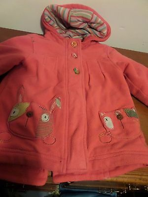 Pink Next girls coat age  2-3