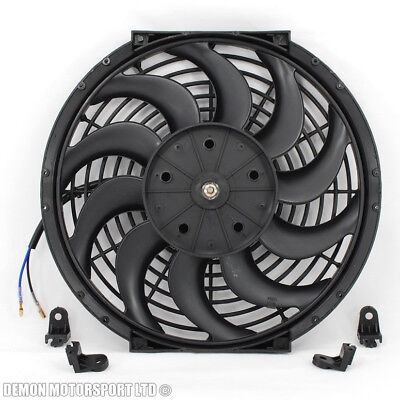 "12"" Fan Universal Electric 12v Volt Slim Fan For Intercooler Radiator Oil Cooler"