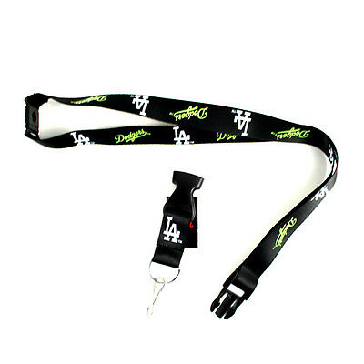 Los Angeles Dodgers Lanyard, Black Neon