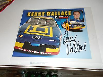 NASCAR BGN - 81 SQUARE D/KENNY WALLACE AUTOGRAPHED PROMO SHEET 10x8