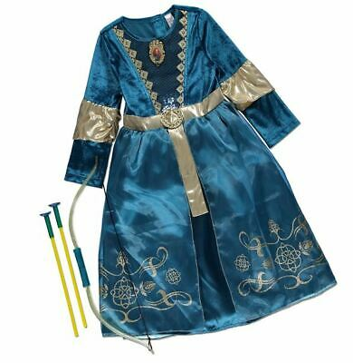 NEW Girls Disney Princess Brave Merida Fancy Dress Up Costume