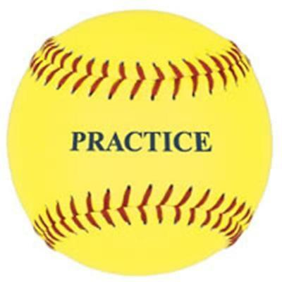 SSG / BSN 5PSBY12 12 Inch Yellow Practice Softball
