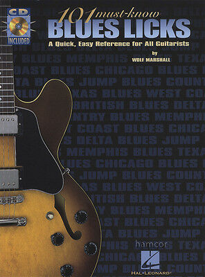 101 Must-Know Blues Licks Guitar TAB Music Book/CD by Wolf Marshall