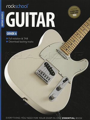 Rockschool Guitar Grade 6 2012-2018 TAB Book & Audio Access Songs Tests for Exam