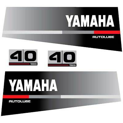 Yamaha 40 autolube outboard decal aufkleber adesivo sticker set