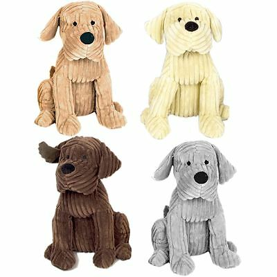 Take Me Home Chunky Cord Ribbed Cute Dog Door Stop ~ 28cm Fabric Doorstop