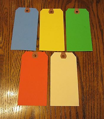 200 Colored Blank Shipping Hang Tags Scrapbook Gift Inventory Paper Label