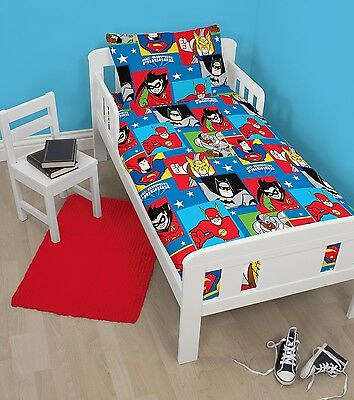 Dc Comics Super Friends Junior / Toddler / Cot Bed Duvet Quilt Cover Set Boys