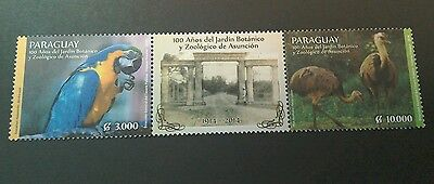 Paraguay 2014 Asuncion Zoo  2v+tab strip  per scans MNH