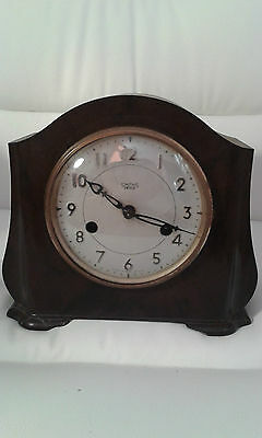 1950s Smiths Enfield Striking Clock Bakelite Mantel Clock Art Deco Clock Vintage
