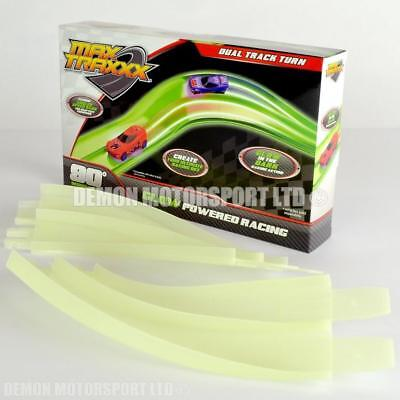 Max Traxxx Tracer Racers 90 Degree Track Turn Corner Bend, Hot Wheels Compatible