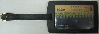 Singapore Airlines PPS Club Luggage Tag & KrisFlyer PPS Club Gold Luggage Card