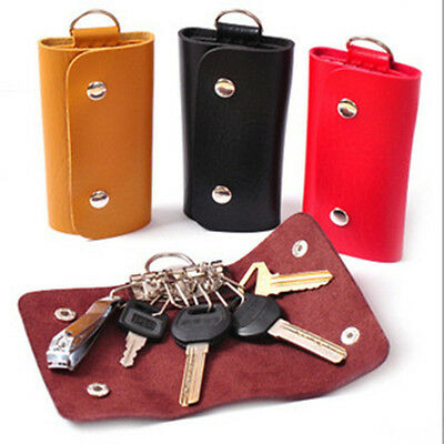 Good Soft PU Leather Key Chain Accessory Bag Wallet Case Keyring Holder Keyfob