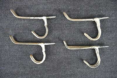 Antique Vintage Wire Hooks Lot of 4 Matching Coat Hooks (C)