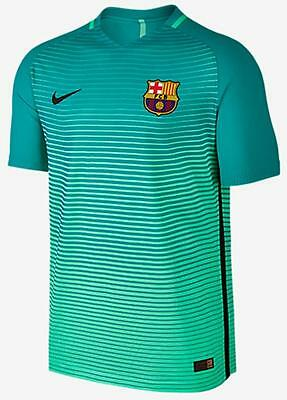 Nike FC Barcelona 2016/17 Vapor Authentic 3rd Jersey Player Version Green Glow