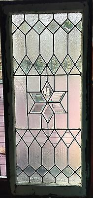 Beveled star with textured glass stained glass window
