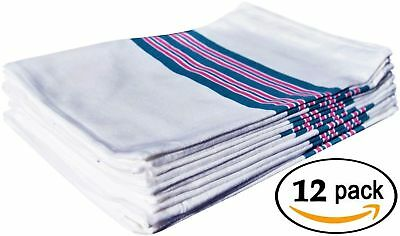 Hospital Baby Nursery Receiving Striped Cotton Blankets 30 x 40in  Pack of 12