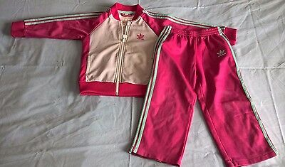 Girls Adidas Tracksuit (used condition )
