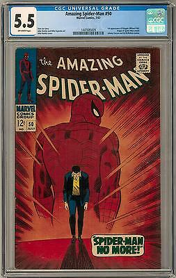 Amazing Spider-Man #50 CGC 5.5 (OW) 1st appearance of the Kingpin