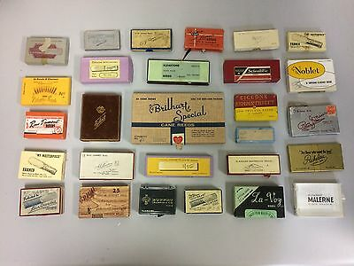 Lot of 28 Vintage Empty Woodwind Reed Boxes