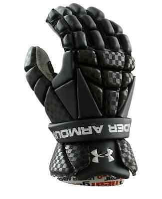 "Under Armour UA REVENANT Lacrosse Gloves Black - Size Youth Sm 10"" - NWT $79"