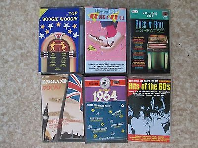 Collection 26 Cassette Music Tapes Rock N Roll Soul Sixties 60's 70's Lot & More