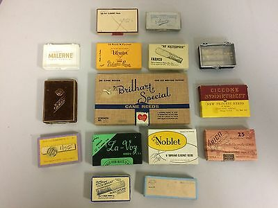 Lot of 15 Vintage Empty Woodwind Reed Boxes