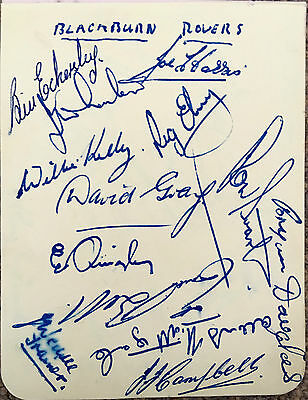 BLACKBURN ROVERS FC EARLY 1950's AUTOGRAPH PAGE (13)