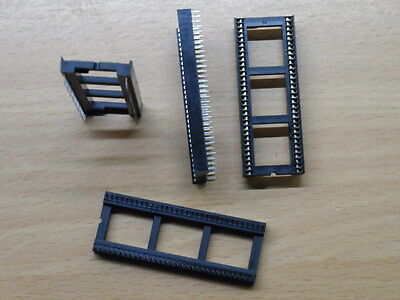 """2pack Fine Pitch 64 Pin IC Socket DIL 0.75"""" wide Way DIP chip C64C PLA"""