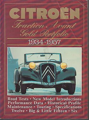 Citroen Traction Avant Six Twelve Big & Little Fifteen Period Road Tests Book