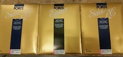 15 Pages Photographic Paper Forte Elegance &Salon RC Black & White sealed 8 x10