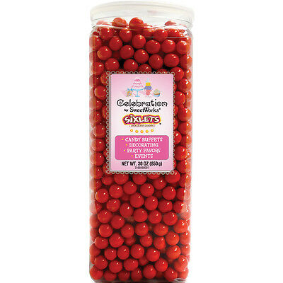 Celebrations By Sweetworks Sixlets(R) 30oz-Red