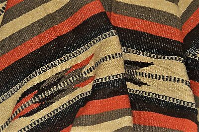 """Mexican Blanket Tribal """"Feather""""  Burnt Umbre PREMIUM XL 82X48 Handwoven Throw"""