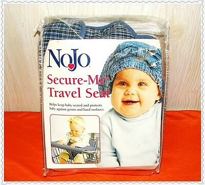 Nojo Blue Plaid Secure Me Travel Seat Shopping Cart Carriage Cover Baby Cushion