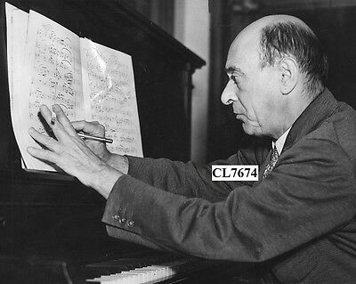 Arnold Schoenberg Composing at the Piano Photo
